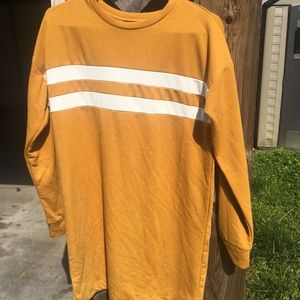 Forever 21 yellow sweater dress